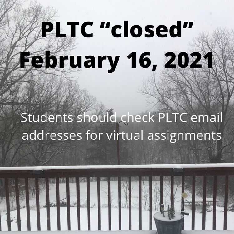 PLTC closed on a snowy background
